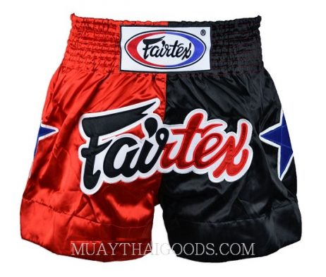 FAIRTEX MUAY THAI BOXING SHORTS BS85 RED BLACK