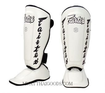 Fairtex MUAY THAI BOXING Shin Pads SP7 WHITE