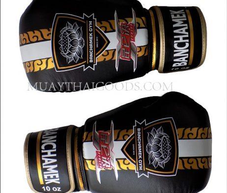 LEATHER BUAKAW BANCHAMEK BOXING GLOVES BLACK
