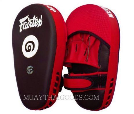 THAI VERSION Fairtex Muay Thai Boxing Focus Punching Mitts FMV12 BLACK RED