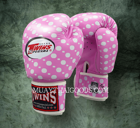 BOXING GLOVES POLKA DOT FBGV47 PINK TWINS SPECIAL