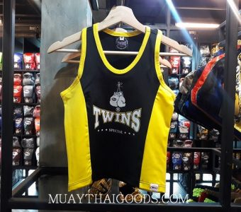 ELASTIC TANK TOP LADIES TWINS SPECIAL BLACK YELLOW TBS 2