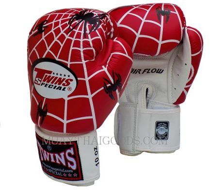 FBGV8 TWINS SPECIAL AIRFLOW BOXING GLOVES SPIDER WEB RED WHITE