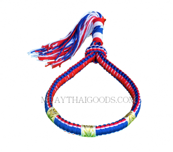 HANDMADE HEAD BAND MONGKOLS MUAY THAI FLAG THAILAND