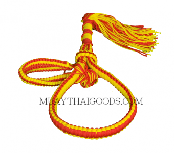 HANDMADE HEAD BAND TRADITIONAL MONGKOLS and PRAJEAD RED YELLOW