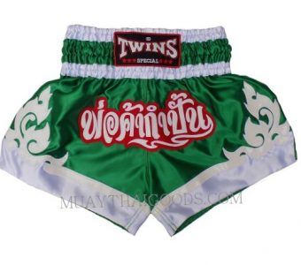 KID CHILDREN YOUNG FIGHTER KICKBOXING MUAY THAI BOXING SHORTS TWINS SPECIAL GREEN