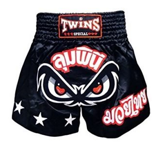 NOFEAR TWINS SPECIAL MUAY THAI BOXING SHORTS BLACK