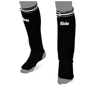 SPE1 ELASTIC SOCKS SHIN GUARDS PADDED FOAM FAIRTEX BRAND
