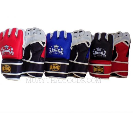 TOP KING MMA SPARRING GRAPPLING GLOVES LEATHER