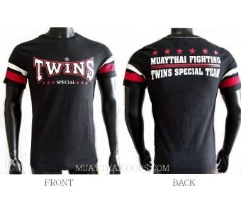 TWINS SPECIAL BLACK FIGHTING TSHIRT COTTON