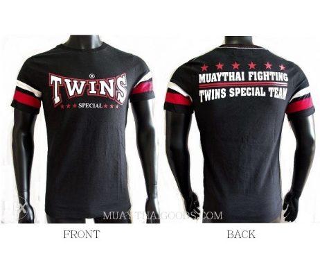 TWINS SPECIAL BLACK FIGHTING TSHIRT COTTON