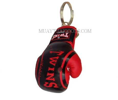 FANCY BLACK RED MGB11 KEYRINGS KEYCHAIN CAR MUAY THAI KICK BOXING GLOVES TWINS SPECIAL