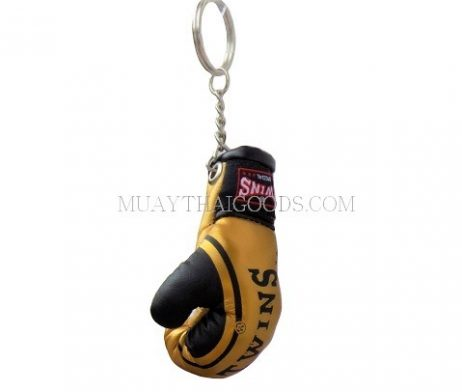 FANCY GOLD BLACK MGB11 KEYRINGS KEYCHAIN CAR MUAY THAI KICK BOXING GLOVES TWINS SPECIAL