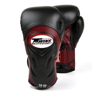 BGVL6 TWINS SPECIAL BLACK BURGUNDY MUAY THAI KICK BOXING GLOVES