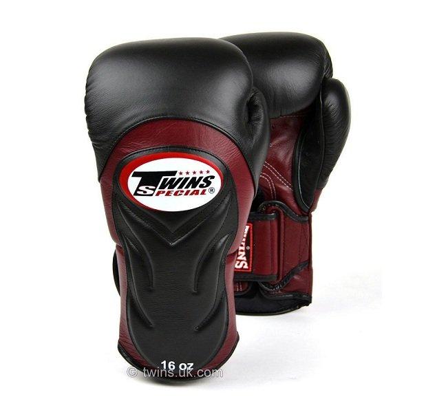 Shiv Naresh Teens Boxing Gloves 12oz: BGVL6 TWINS SPECIAL BLACK BURGUNDY MUAY THAI KICK BOXING