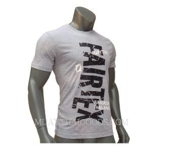 FAIRTEX TSHIRT TST136 MUAY THAI GREY COTTON 100%