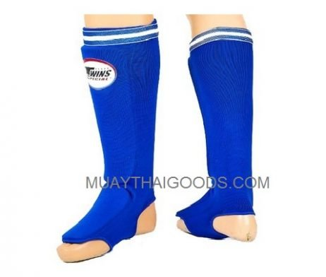 SGN1 BLUE ELASTIC SOCKS SHIN GUARDS PADDED FOAM TWINS SPECIAL