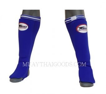SGN1 BLUE ELASTIC SOCKS SHIN GUARDS PADDED FOAM TWINS SPECIAL BRAND