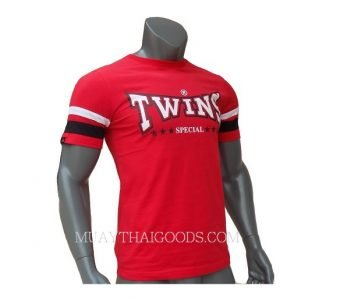 TWINS SPECIAL RED FIGHTING T-SHIRT COTTON WEARING