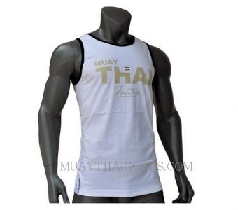 FAIRTEX TSHIRT MTT22 SLEEVELESS WHITE COTTON 100%