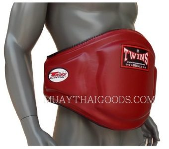 TRAINER PROTECTOR BELLY PADS BURGUNDY LEATHER BEPL3 TWINS SPECIAL