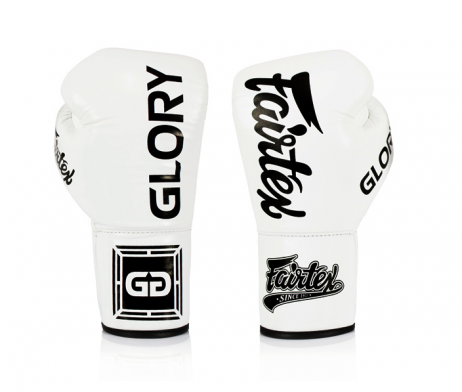 white Fairtex Named Official Gloves Provider of GLORY Kickboxing LACE UP