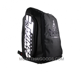 TWINS SPECIAL TRAINING GYM MUAY THAI BOXING BACKPACKER BAG5 BLACK