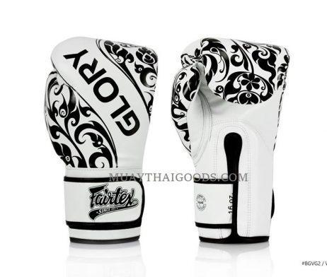 WHITE Fairtex Named Official Gloves Provider of GLORY Kickboxing BGVG2 VELCRO