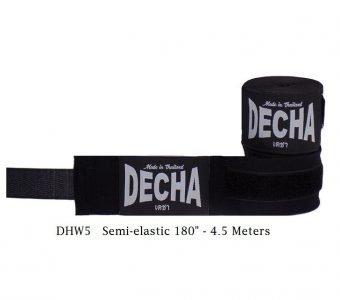 DECHA BLACK BOXING MUAY THAI HAND WRAPS DHW5 SEMI ELASTIC