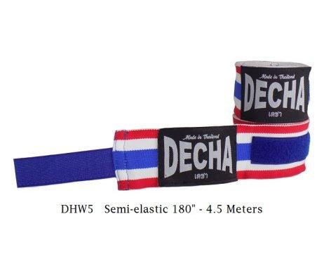 DECHA THAI FLAG BOXING HAND WRAPS DHW5 SEMI ELASTIC 180″ 4.5 M