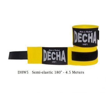 DECHA YELLOW BOXING HAND WRAPS DHW5 SEMI ELASTIC 180″ 4.5 M
