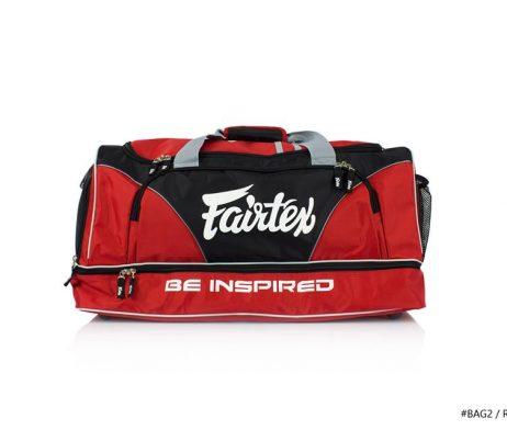 GYM BAG FAIRTEX BAG2 RED BLACK