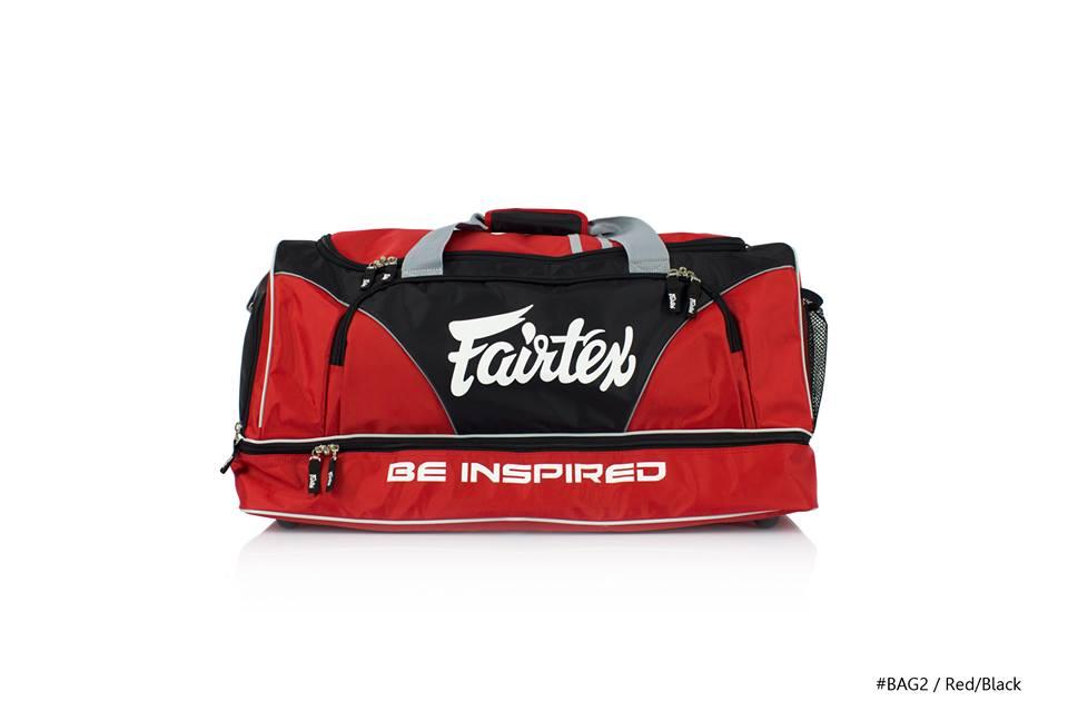 9cfb80b717df GYM BAG FAIRTEX BAG2 RED BLACK