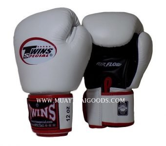 AIRFLOW TWINS SPECIAL BOXING GLOVES BGVLA WHITE BLACK RED