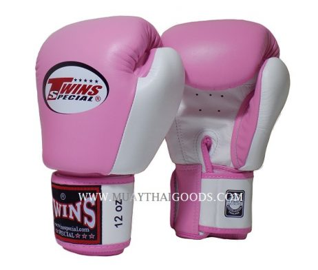 BGVL3 TWINS SPECIAL BOXING GLOVES PINK WHITE