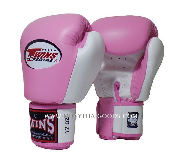 Shiv Naresh Teens Boxing Gloves 12oz: BGVL3 TWINS SPECIAL BOXING GLOVES PINK WHITE