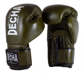 DECHA MUAY THAI GLOVES OLIVE