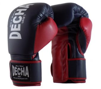 DECHA 4 LAYERS MUAY THAI BOXING GLOVES TIGHT FIT DBGVM1 NAVY BLUE MAROON