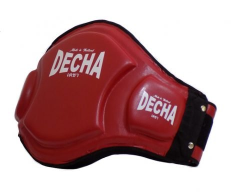 DECHA DOUBLE PADDED High Protection MUAY THAI BELLY PADS DBPV1 MAROON