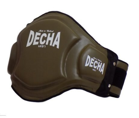DECHA DOUBLE PADDED High Protection MUAY THAI BELLY PADS DBPV1 OLIVE