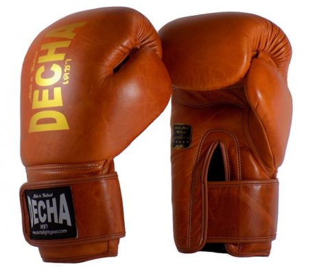 DECHA LEATHER 4 LAYERS MUAY THAI BOXING GLOVES TIGHT FIT DBGVL1 CLASSIC