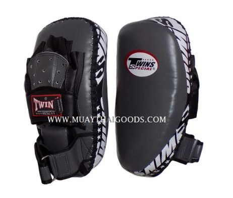 PML23 NEW FOREARM MUAY THAI BOXING KICK PADS TRAINING CURVED TWINS SPECIAL GREY BLACK