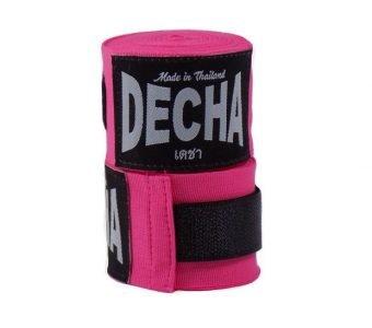 decha muay thai boxing handwraps bandages pink
