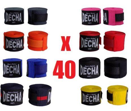 40 DECHA mix COLORS BOXING HAND WRAPS DHW5 SEMI ELASTIC
