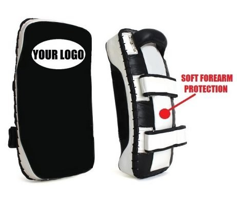CUSTOMIZE YOUR OWN MUAY THAI GEAR WITH MY LOGO KICK PADS CURVED MICRO