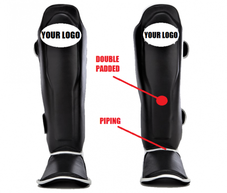 CUSTOMIZE YOUR OWN SHIN GUARDS DOUBLE PADDED with my logo gym