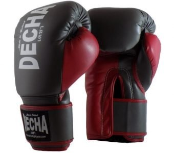 DECHA 4 LAYERS MUAY THAI BOXING GLOVES TIGHT FIT DBGVM1 GREY BURGUNDY