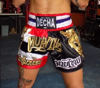 DECHA MUAY THAI SHORTS MTSD1 SATIN