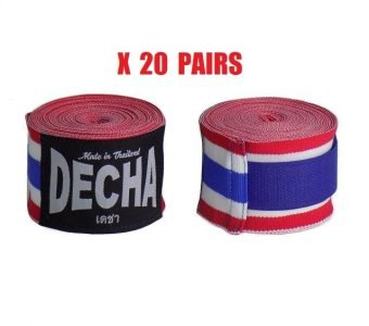20 DECHA THAI FLAG BOXING HAND WRAPS DHW5 SEMI ELASTIC