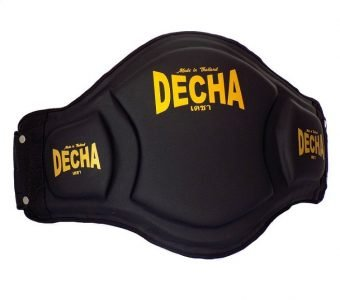 DECHA DOUBLE PADDED High Protection MUAY THAI BELLY PADS DBPV1 BLACK
